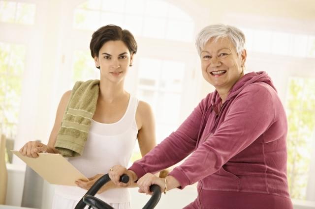 Ladies with bike